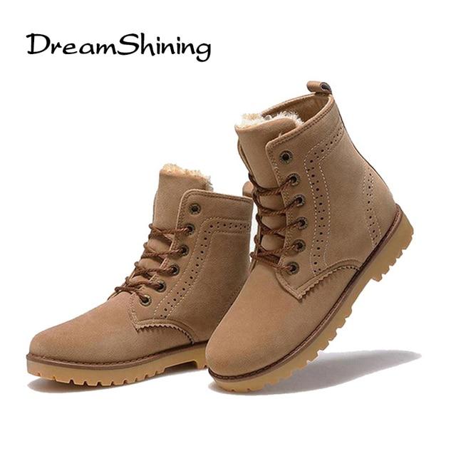 DreamShining Inverno Alta Qualidade Botas de Inverno Da Marca Casuais Sapatos Quentes Homens Unisex Homens Botas Sapatos de Couro Botas De Pele De Pelúcia