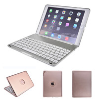 7 Colors Backlit Light Wireless Bluetooth Keyboard Case Cover For IPad New 2017 2018 IPad Air