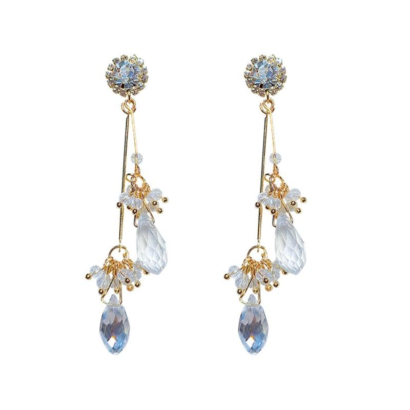 pendientes cristal aleacion Crystal Rhinestone Alloy Drop earrings