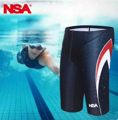 c5ca2fd4d9 Homens Spandex Swimwear Profissional Digital Impresso Sunga Boxer Shorts De  Natação Esporte Fino Praia Calção de Banho de Água