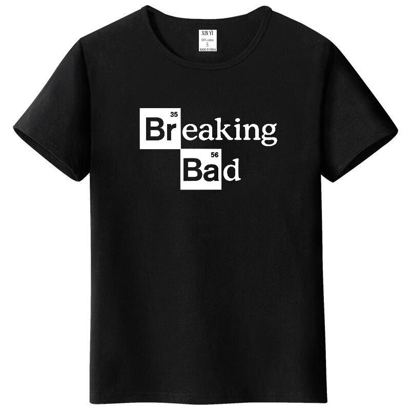 Men High Quality Leisure Tshirts Tops Cotton O-Neck Heisenberg Men Top Short Sleeve Casual Breaking Bad Print T Shirt For Men