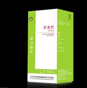 Image 1 - Taihe aiguilles stérilisées, jetables, 500 pièces par paquet, aiguilles dacupuncture stérilisées, massage, exercices avec tube, vente en gros