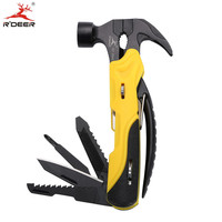 Multi Tool Outdoor Survival 7 In 1 Mini Pliers Hammer Nail Puller Saw Knife Screwdriver Steak
