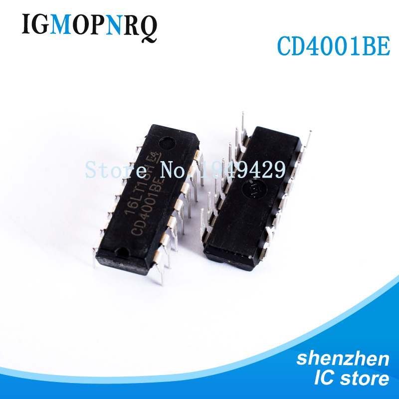 10pcs free shipping CD4001 <font><b>CD4001BE</b></font> HEF4001BE HEF4001 DIP-14 Switching Controllers SMPS Controller new original image