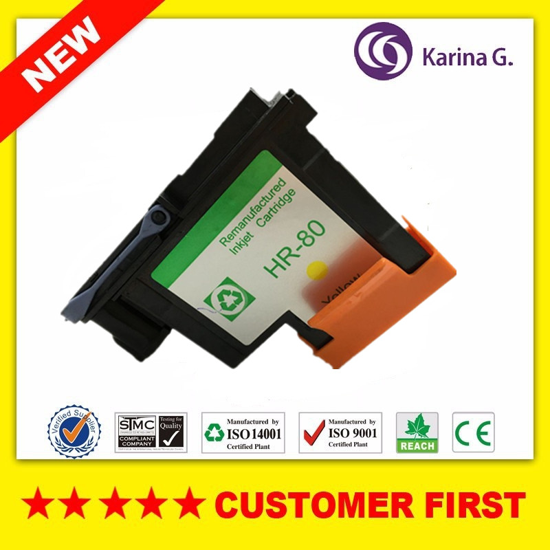 1x Yellow Remanufactured printhead for HP80 CA4823A suit for HP Designjet 1000 1050c 1055cm printer 1pcs ca4820a black printhead for hp 80 for hp designjet 1000 1050c 1055cm printer