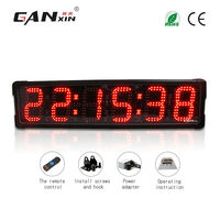 [Ganxin]6'' 6 Digits large display countdown timer wall clock modern design oversized wall clocks
