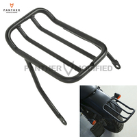 Black Motorcycle Rear Fender Luggage Shelf Rack Case For Harley Sportster Iron 883 XL883N 2009 2017