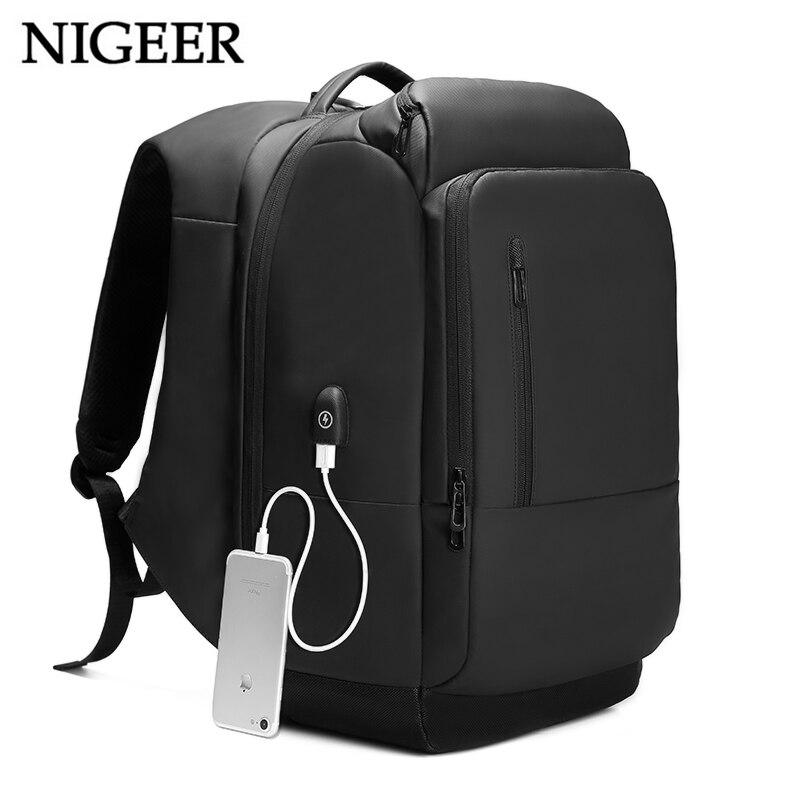 NIGEER 17 zoll Laptop Rucksack Für Männer Wasser Abweisend Funktionale Rucksack mit USB Lade Port Reise Rucksäcke Männlichen n1755