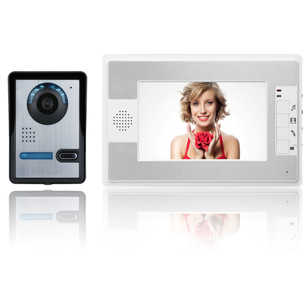 ENNIO 7 Inch Video Door Phone Doorbell Intercom Kit 1-camera 1-monitor Night VisionENNIO 7 Inch Video Door Phone Doorbell Intercom Kit 1-camera 1-monitor Night Vision