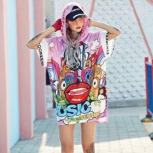 Футболка женская, летняя, с принтом граффити