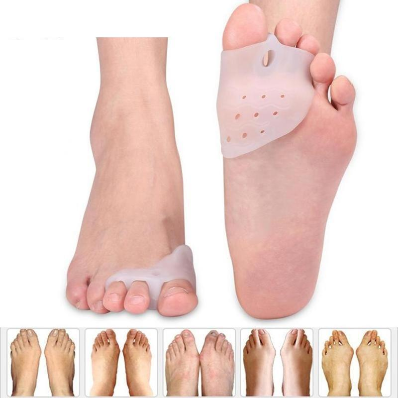 2Pcs Silicone Gel Foot Fingers Toe Separator Feet Care Tools Bunion Splint Straightener New Corrector Hallux Valgus Massager(China)