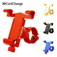 CoolChange Universal Bicycle Phone Stand Anti Slip Bike Handlebar Phone Mount Holder Adjustable For Cellphone Cycling Bracket