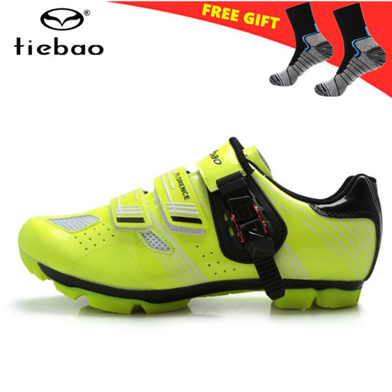 TIEBAO Cycling Shoes Breathable zapatillas deportivas mujer sapatilha ciclismo MTB Athletic Auto-locking Sport men Sneakers tiebao tiebao b1285 recreational cycling shoes black green size 42