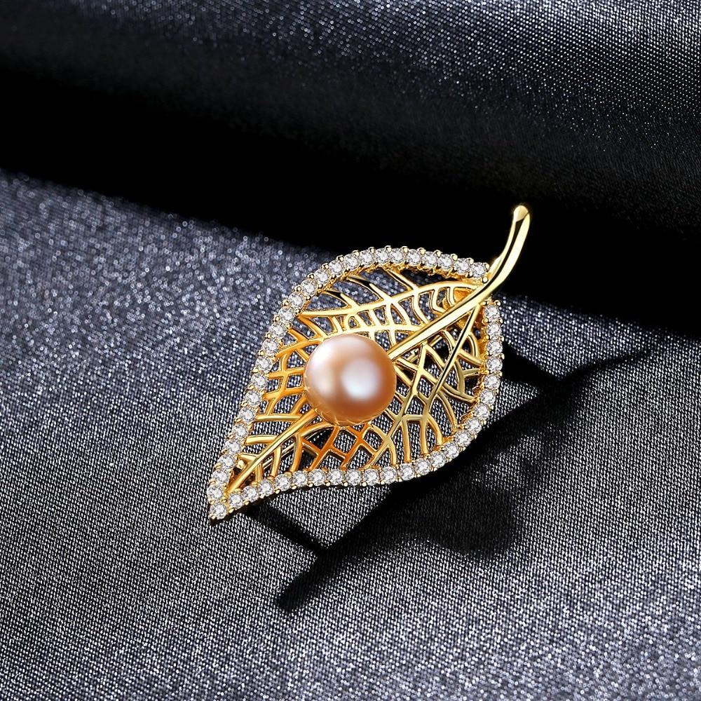 PAG & MAG Marka Kształt Liścia Słodkowodne Pearl 8-8.5mm Naturalny - Wykwintna biżuteria - Zdjęcie 4