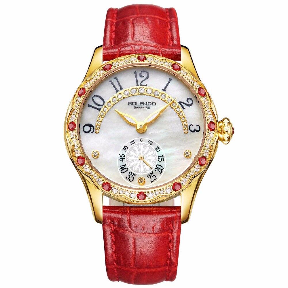 Rolendo montres femmes mode 2018 marque de luxe montre à Quartz dame maille en acier inoxydable femmes montre-bracelet Relogio Feminino horloge
