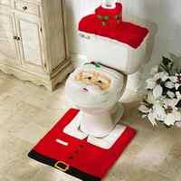 Adornos navideños para el hogar Baño cubierta de asiento de alfombra de papel natal navidad adornos de Santa Claus decoración de Año Nuevo de navidad