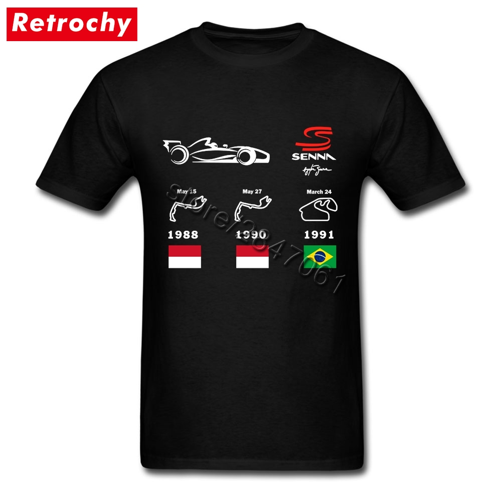 Ayrton Senna T-shirt Men Cotton Tee for Teenagers O Neck Cheap Branded T Shirts Valentine's Day gifts
