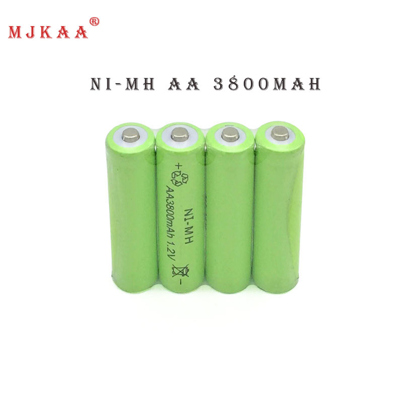 10pcs Ni-MH 1.2V AA Rechargeable 3800mAh 2A Neutral Battery Rechargeable battery AA batteries аккумуляторы hr06 aa duracell ni mh 1300 mah 2шт
