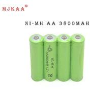 10 шт. Ni-Mh 1.2 В AA Перезаряжаемые 3800 мАч 2А Обычный Аккумулятор Аккумуляторная батарея AA батареи
