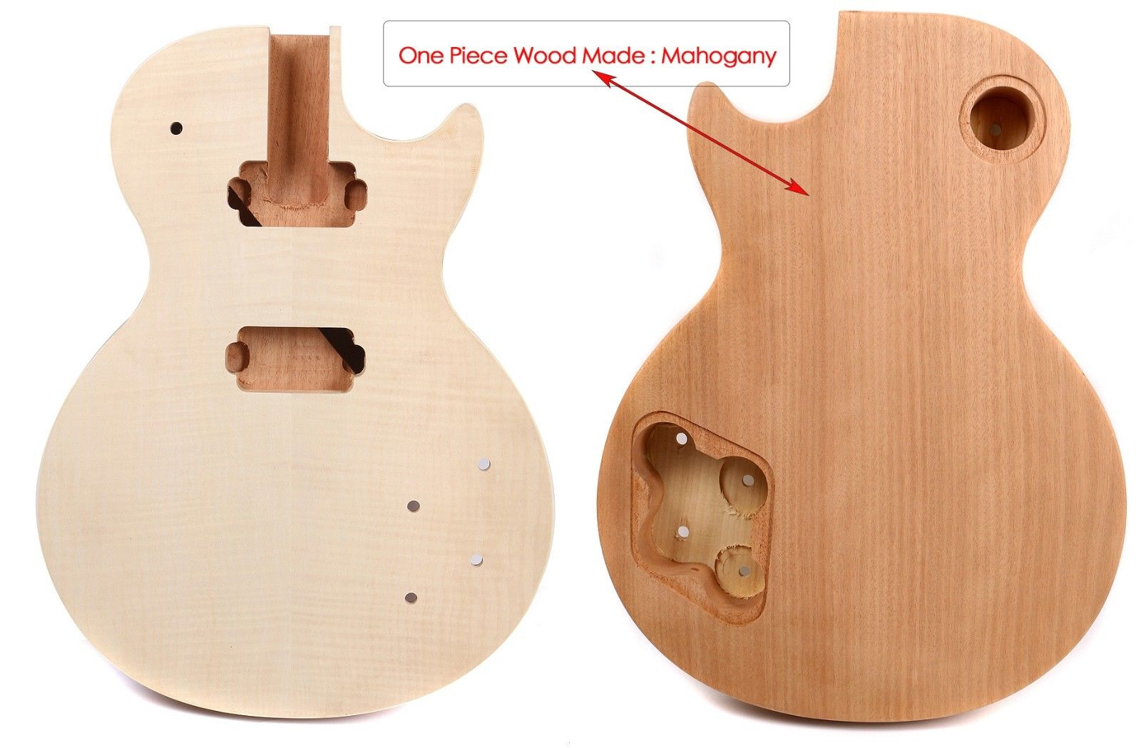 LP Electric guitar body Unfinished Mahogany One Piece wood Made Set In style one 21 unfinished electric guitar body mahogany made