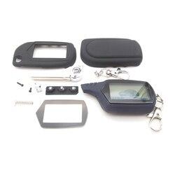 Zabezpieczenie przed kradzieżą System A91 LCD pilot zdalnego sterowania + A91 klucz Case brelok dla Starline A91 A61 B9 B6 uncut ostrze fob skrzynki pokrywa