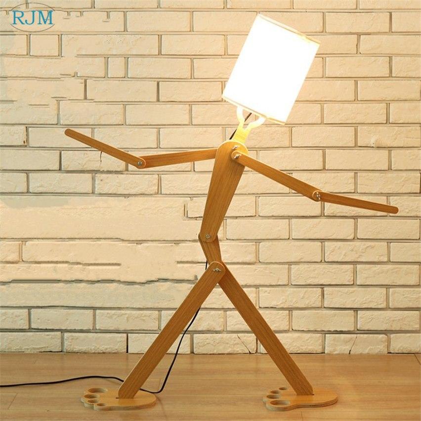 modern simples criativo de madeira ajustavel lampadas de assoalho para sala de estar quarto estudo de