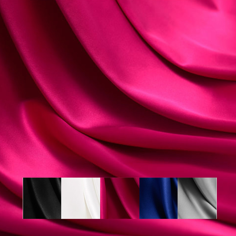 40M/M Width 135cm natural silk stretch satin plush fabric for dress