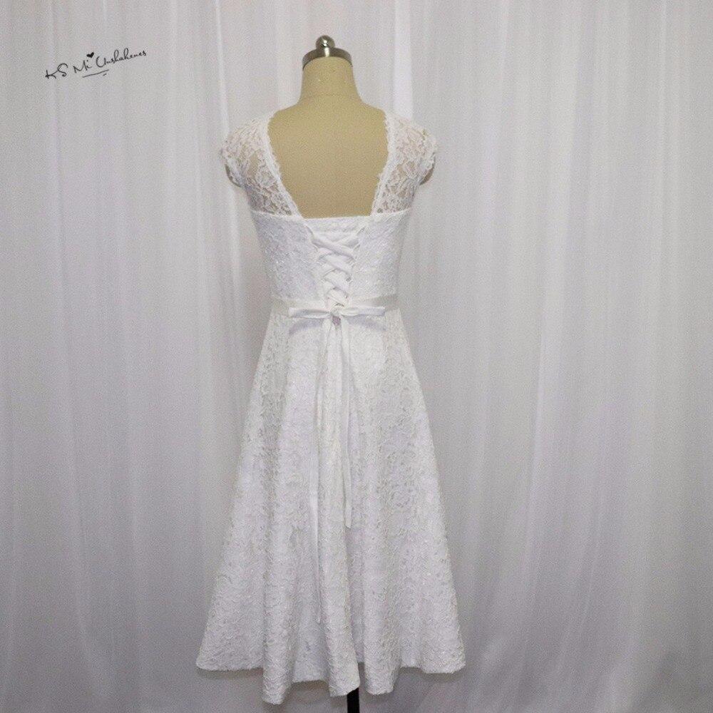 Vestido de Noiva Curto Vintage Kurzen Hochzeitskleid Spitze 2017 ...