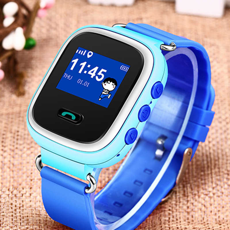 2019 New Children Smart Watch LBS Historical Positioning Tracker Supports SIM Card Baby Digital Watch Security Range Setting+Box