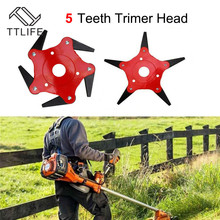 TTLIFE Outdoor Trimmer Head 5/6 Steel Blades Razors 65Mn Lawn Mower Grass Weed Cutter UK Garden Grass Strimmer Brush Cutter Tool