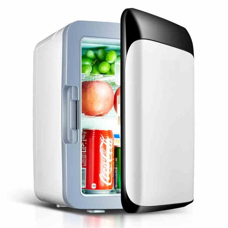 DC 24V 12V Car Refrigerator Freezer Cooler 10L Car Fridge Compressor AC 110 - 240V For Car Home Picnic Refrigeration 2-8 Deg.C