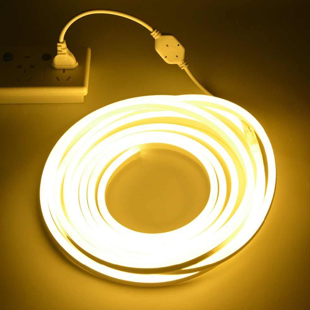 Светодиодный неоновый светильник, 220 В, гибкий мягкий светодиодный неоновый светильник, сказочный неоновый знак, рекламный светильник, декоративный светильник для рождественской вечеринки, Европейский штекер
