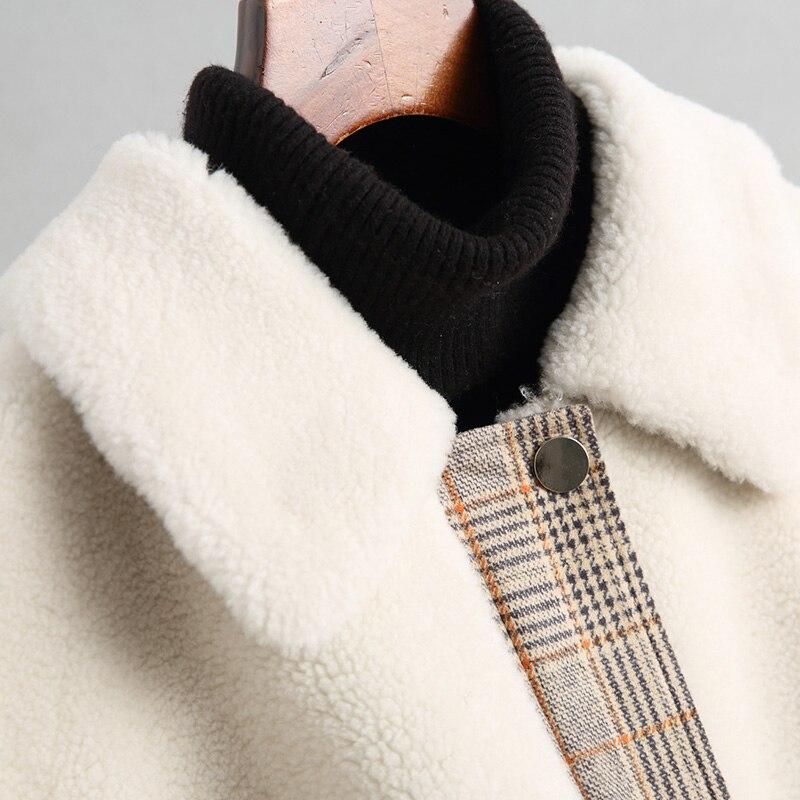 Zt958 Coréen Vintage 2018 Manteau 100 Picture Manteaux Automne Veste Fourrure Laine Hiver Femme Long Femmes Slim De Color Vêtements Réel gBxqSwnTn