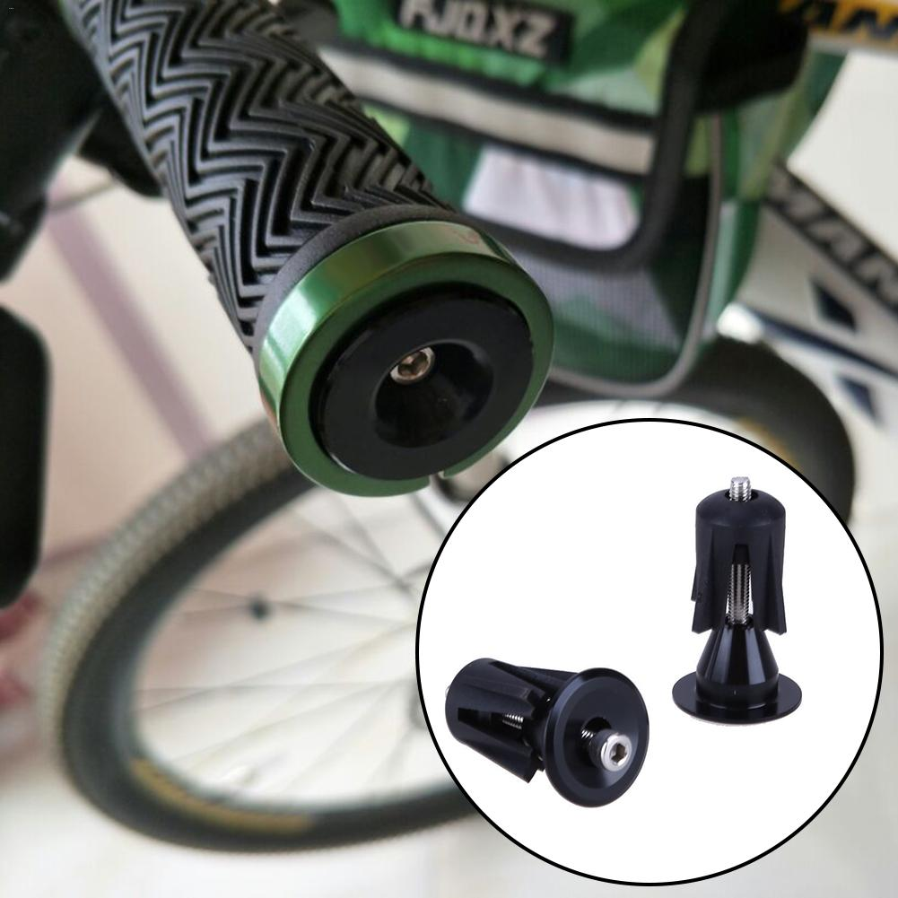 1 Pair Bike Mountain Bicycle Cycling Handlebar Bar Caps Aluminum Alloy End Plugs