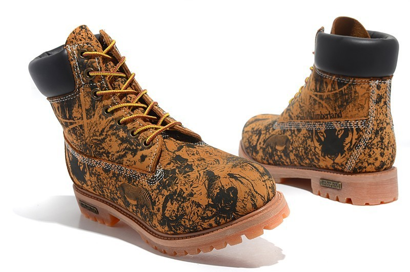 TIMBERLAND Animal Prints Camouflage Leopard Men Premium Ankle Martin Boots,Man Genuine Leather Timber Outdoor Casual Shoes 10082 1