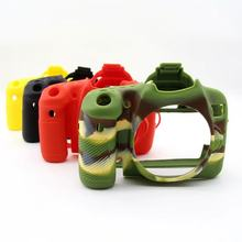 70D Soft Camera case cover Silicone Rubber Protective Camera Body Cover Case Skin for Canon EOS 70D Camouflage Black Red Yellow(China)