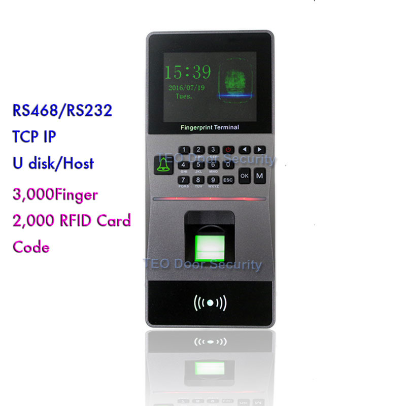 High Speed Large Capacity RFID reader Biometric Fingerprint Access Control /Time attendance machine Software Security System