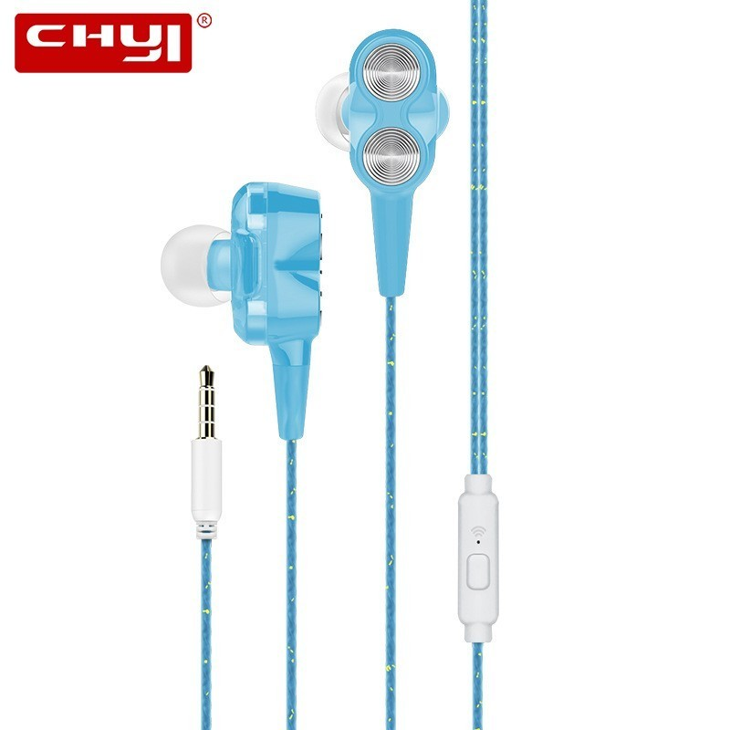 CHYI Wired In Ear Handsfree Earphones With Microphone Gaming Headset Cheap Sport Earphones Stereo Hifi Music Earbuds For Tablet image