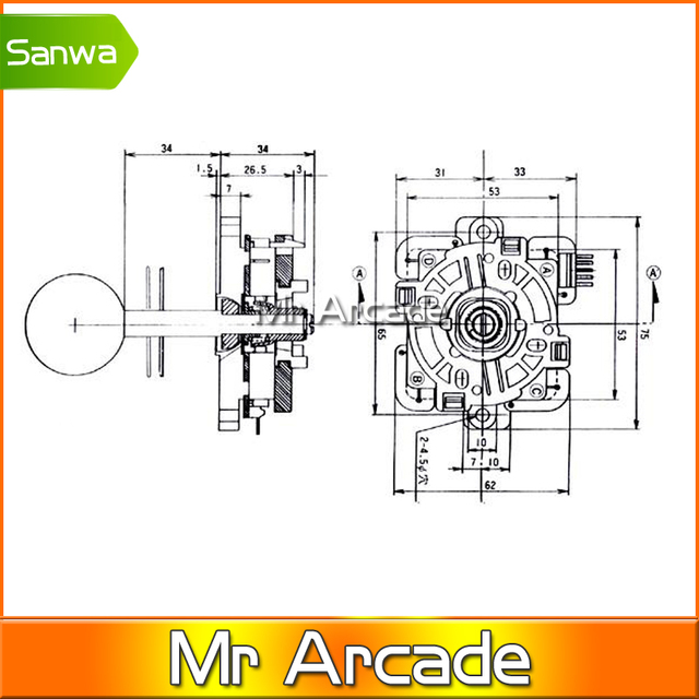 2 pcs quality official original sanwa tp 8y joystick with 5 pin sanwa joystick  wiring diagram