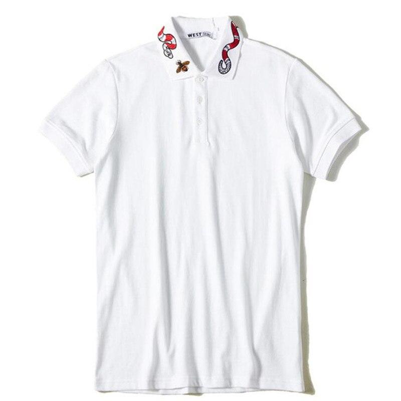 Summer Top Bee Embroidery   Polo   Shirt Men Brand Fashion Short Sleeve Turndown Collar   Polos   Masculina Ropa Hombre Verano 2019
