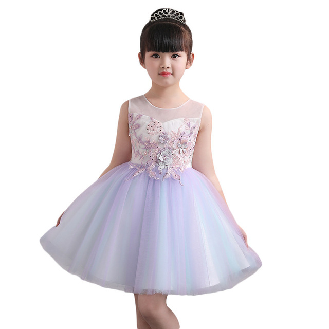 aba86847ae0d Summer Dress Clothes for Girls Baby Princess Lace Dresses Children ...