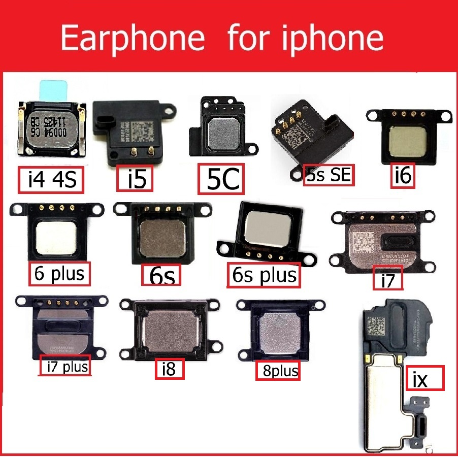 Genuine-Earpiece-Speaker Replacement Phone-Parts 8-Plus for 4 4s 5/5s/5c/.. title=