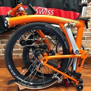 """Image 5 - دراجة 349 العجلات 1 3 سرعة 16x1 3/8 """"Kinlin NB R حافة القفز ل Brompton 3 ستين بايك عنصر خفيفة للطي عجلات الدراجة 800g"""