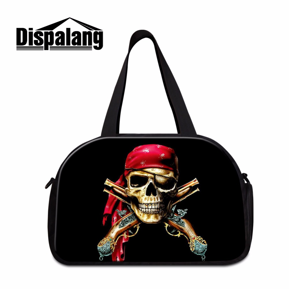 Dispalang 2017 Skull Canvas shoulder duffle Bags for Boys Cool tote Travel Bags On Sale Womens travel Tote work Out Bags for men