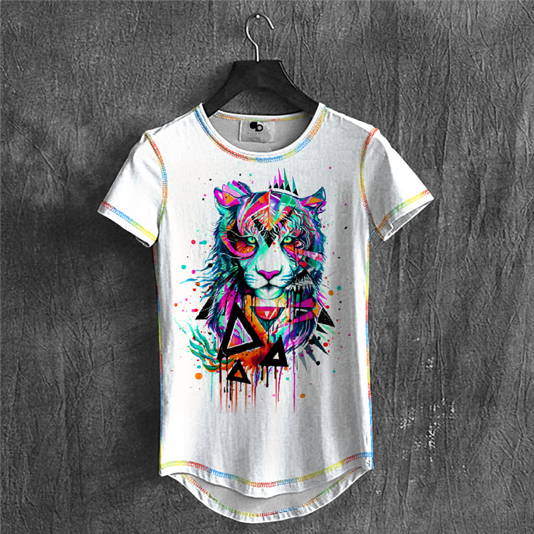 472861272 Wolf Print T-shirt Men Marvel Rock Summer Designer Mens Clothing 2018  Streetwear Casual Wrinkle Free Short Sleeve Shirt Youtube