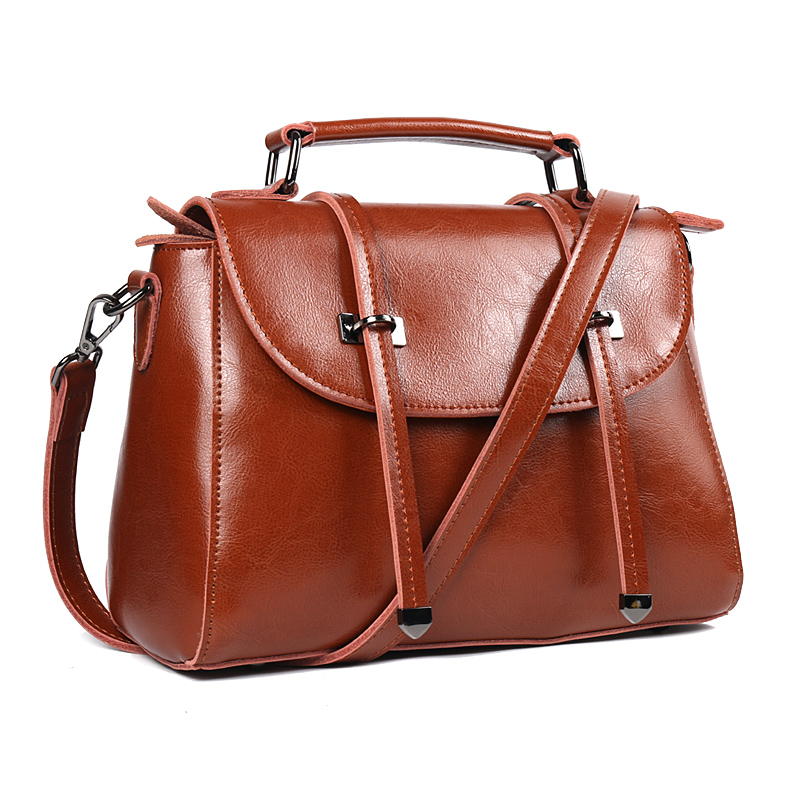 Hign Quality Real Cow Leather Ladies HandBags Women Genuine Leather bags Totes Messenger Bags Designer Luxury Brand Bag donghong real cow leather ladies hand bags women genuine leather handbag shoulder bag hign quality designer luxury brand bag