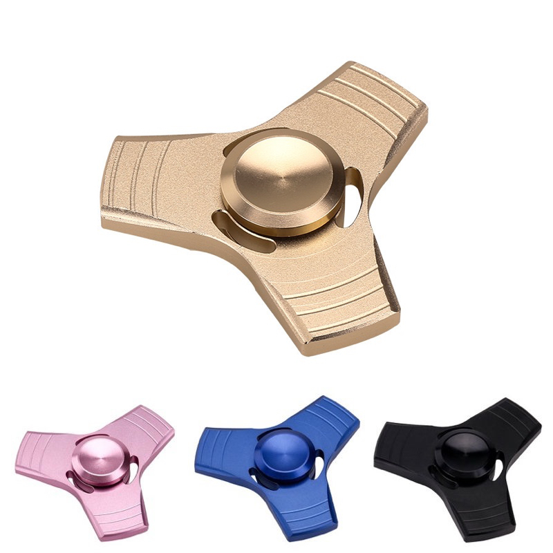 Fidget Tri-Spinner Hand Spinner Metal Aluminium Wheel Toy For Autism & ADHD Anxiety Stress Relief Focus Toys Gift New!