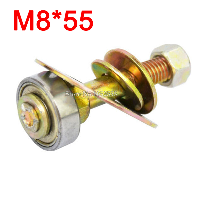 Wholesale 50PCS M8*55 furniture connecting piece screws kit rocking chair accessories rocker bearing nut and bolts sets E196