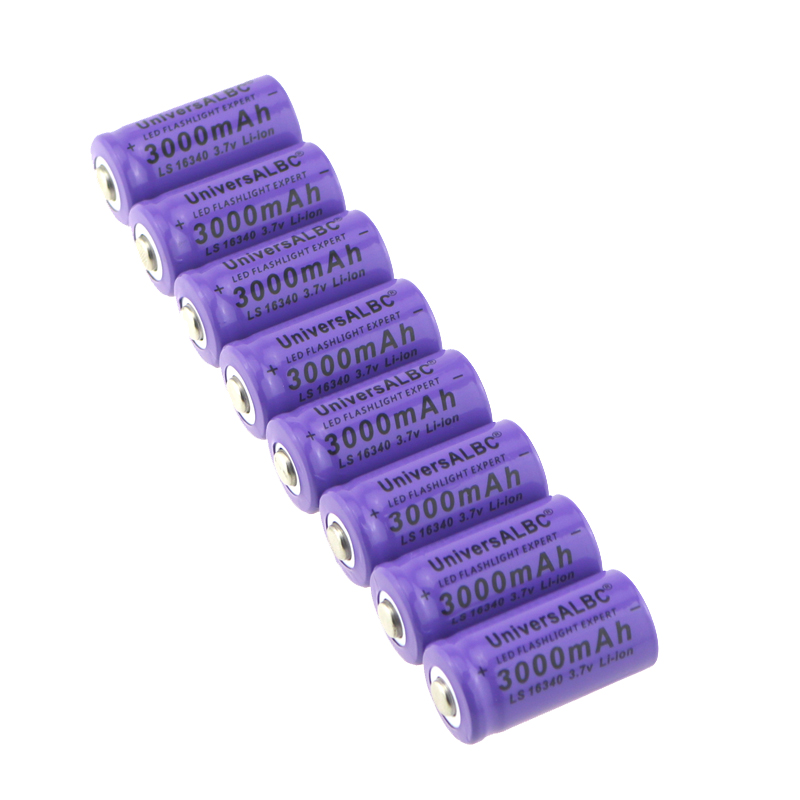 Mah Pourpre Lampe Couleur 7 3000 V Led De Poche Li Ls Rechargeable Ion Universalbc Expert 3 16340 Batterie 8nOP0wk