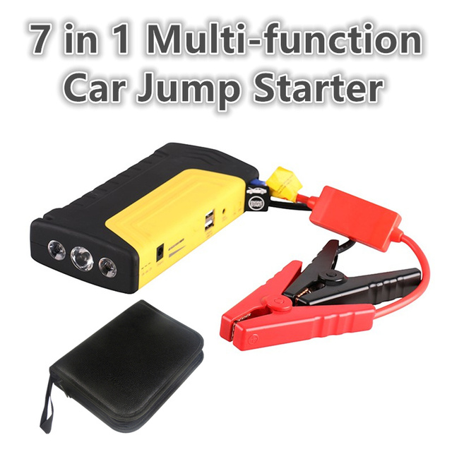 7 in 1 Multi-function jumpstarter Portable Emergency Booster Mini Car Jump Starter Power Bank Charger For 12v Petrol Diesel Car